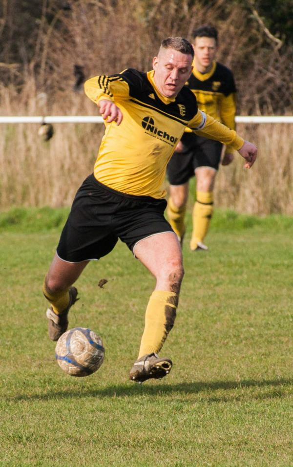 Mark Scanes scored Launton Sports' first goal in their 4-2 home defeat by Broughton & North Newington