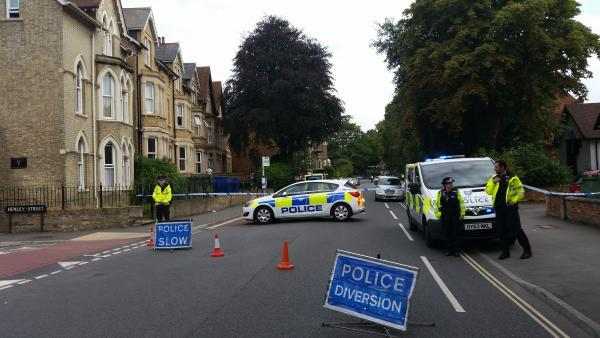 Iffley Road in Oxford is closed due to a police incident