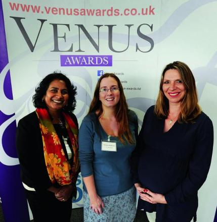 Pictured from left are Dr Chintha Dissanayake of Oxford Psychometrics, Christine McRitchie of Earthwise Trading Ltd and Tina Marshall, managing director of Enchante