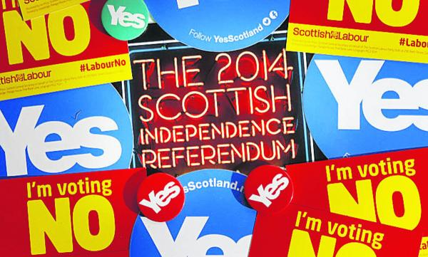 Campaign material ahead of the Scottish referendum