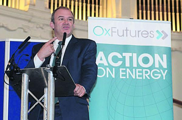 Secretary of State for Energy and Climate Change Ed Davey