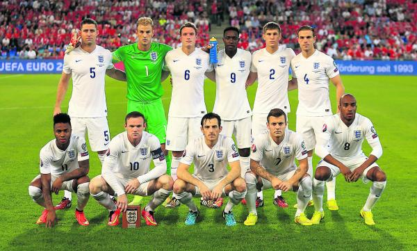 England's youthful team line up ahead of their Euro 2016 qualifying opener against Switzerland on Monday night, when they won 2-0