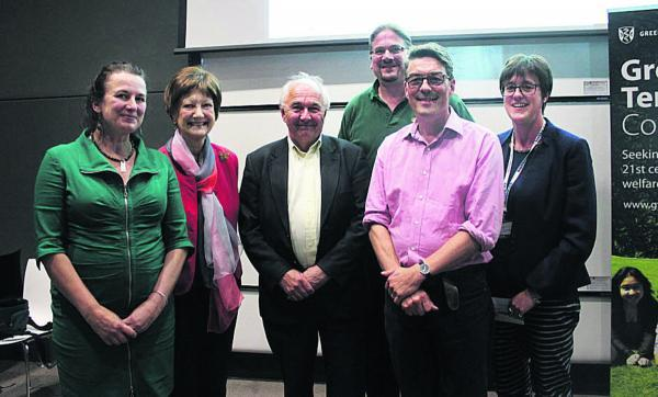 From left, Sian Rees, Dame Fiona Caldicott, John Carvel, Phil Booth, John Appleby and Rachel Coney. Picture: Sue Wilson