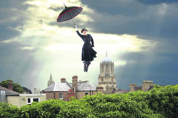 FLYING HIGH: National Storytelling Laureate Katrice Horsley as Mary Poppins
