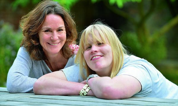 Pip Hoyer Millar, left, who founded The Footsteps Centre to help her daughter Minty, who has cerebral palsy. The centre is celebrating its 10th year this year. Picture: OX70178 Simon Williams