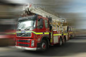 Shed catches alight