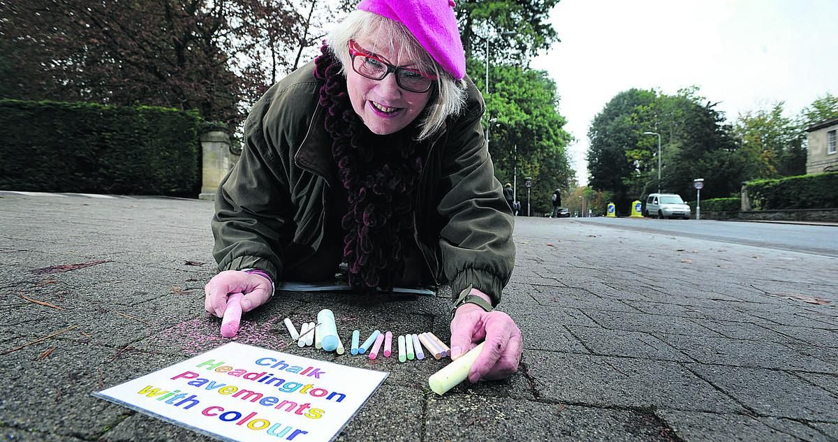 Artist Jean Wykes has organised the Big Draw