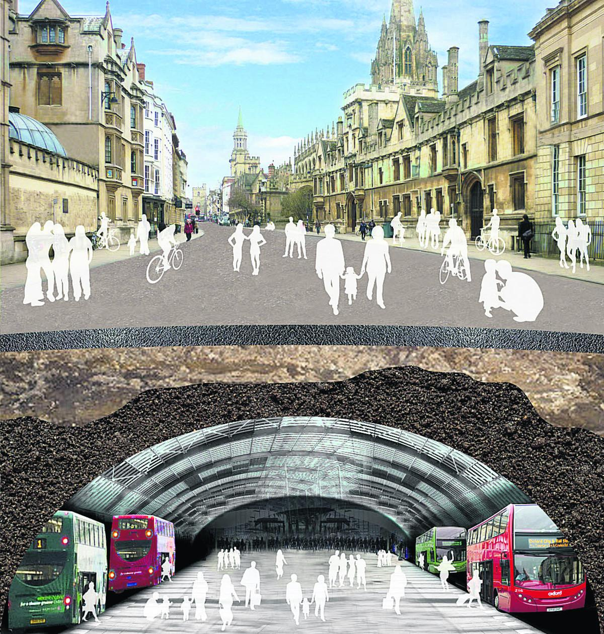 An artist's impression of how the tunnel under High Street might look