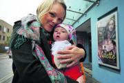 Sarah Mayhew Craddock and her daughter Ottilie, at the Phoenix cinema