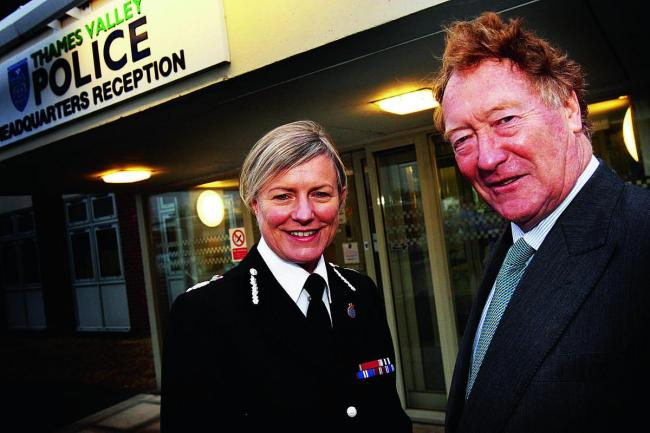 PCC Anthony Stansfeld at the Thames Valley Police HQ in Kidlington wiith Chief Constable Sara Thornton