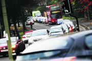 Traffic queues yesterday from Rose Hill towards Donnington Bridge on Iffley Road