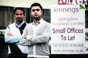 Shahzad Rizwan, left, of Drivas Recruitment and Rupinder Scharma from Oxon Accountancy