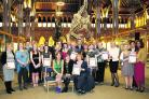 The winners and runners-up of the individual and group categories in the the Hospital Heroes awards at Oxford University Museum of Natural History      Pictures: OX71484 Kirsty Edmonds