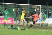 Crowmarsh Gifford's Josh Deakin (10) claws a goal back during their 4-2 defeat at North Leigh