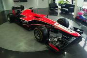 One of the F1 racing cars that went under the hammer at the Marussia auction