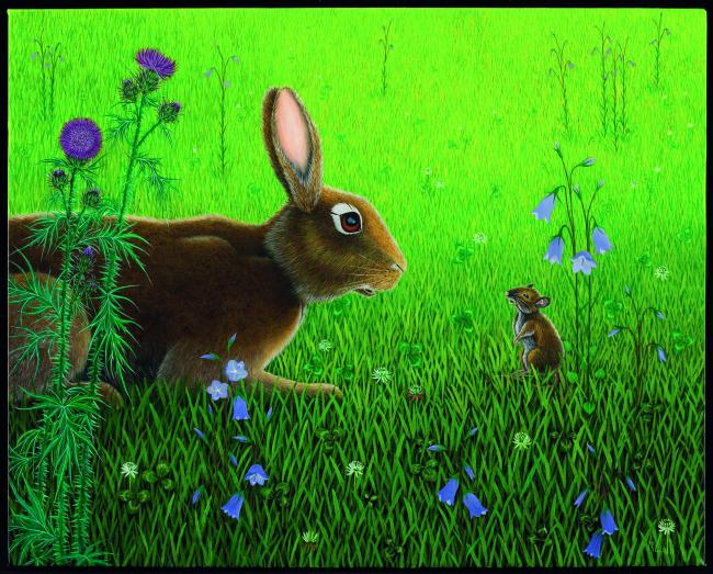 Natural beauty: An illustration of  Hazel and the mouse from the new edition of Watership Down by Aldo Galli