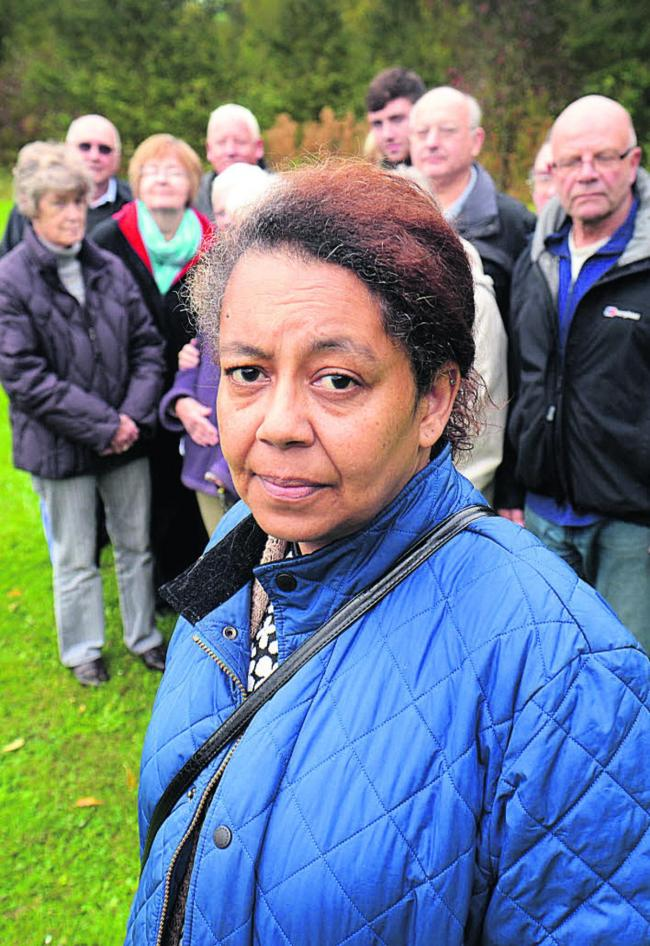 Saxon Way resident Georgina Gibbs is campaigning to protect land at Foxwell Drive
