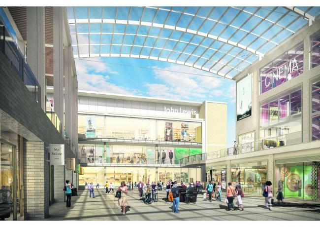An artist's impression of the new-look Westgate Shopping Centre