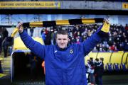 Joe Skarz was introduced to the Oxford United supporters before kick-off on Saturday  Picture: Ed Nix Order No: OX72334