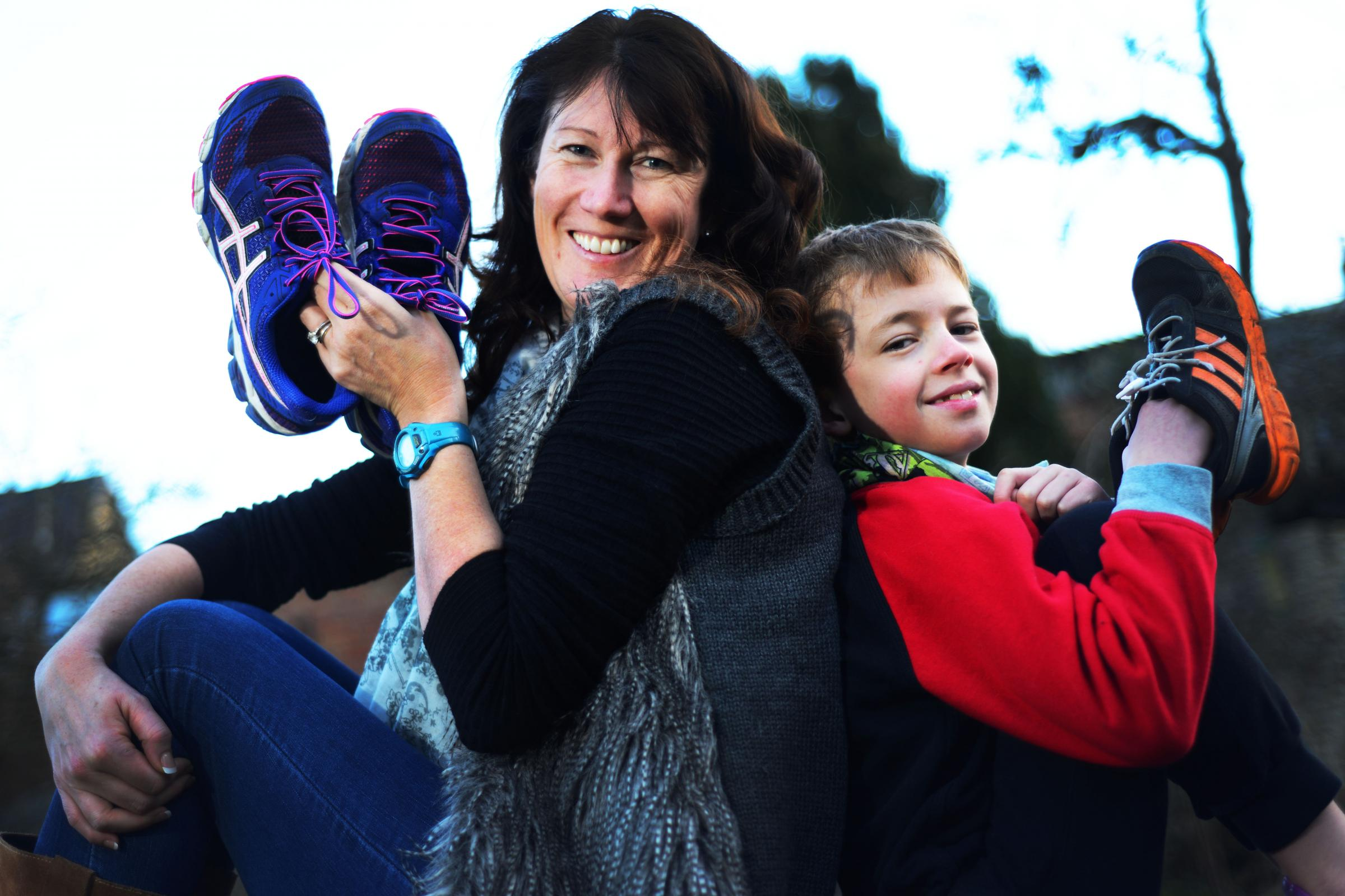 On your marks: Cheryl Davis is running the OX5 as a thank you for her son Miles' treatment