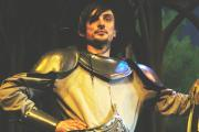 Knight to remember: Marc's stage debut in Spamalot (Pictures: Tim Hughes)