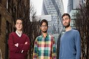 Onfido founders, left to right, Husayn Kassai, Ruhul Amin and Eamon Jubbawy. Picture: Paul Clarke Photographer