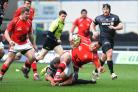 Taione Vea, pictured in action against Saracens, scored London Welsh's second try last week