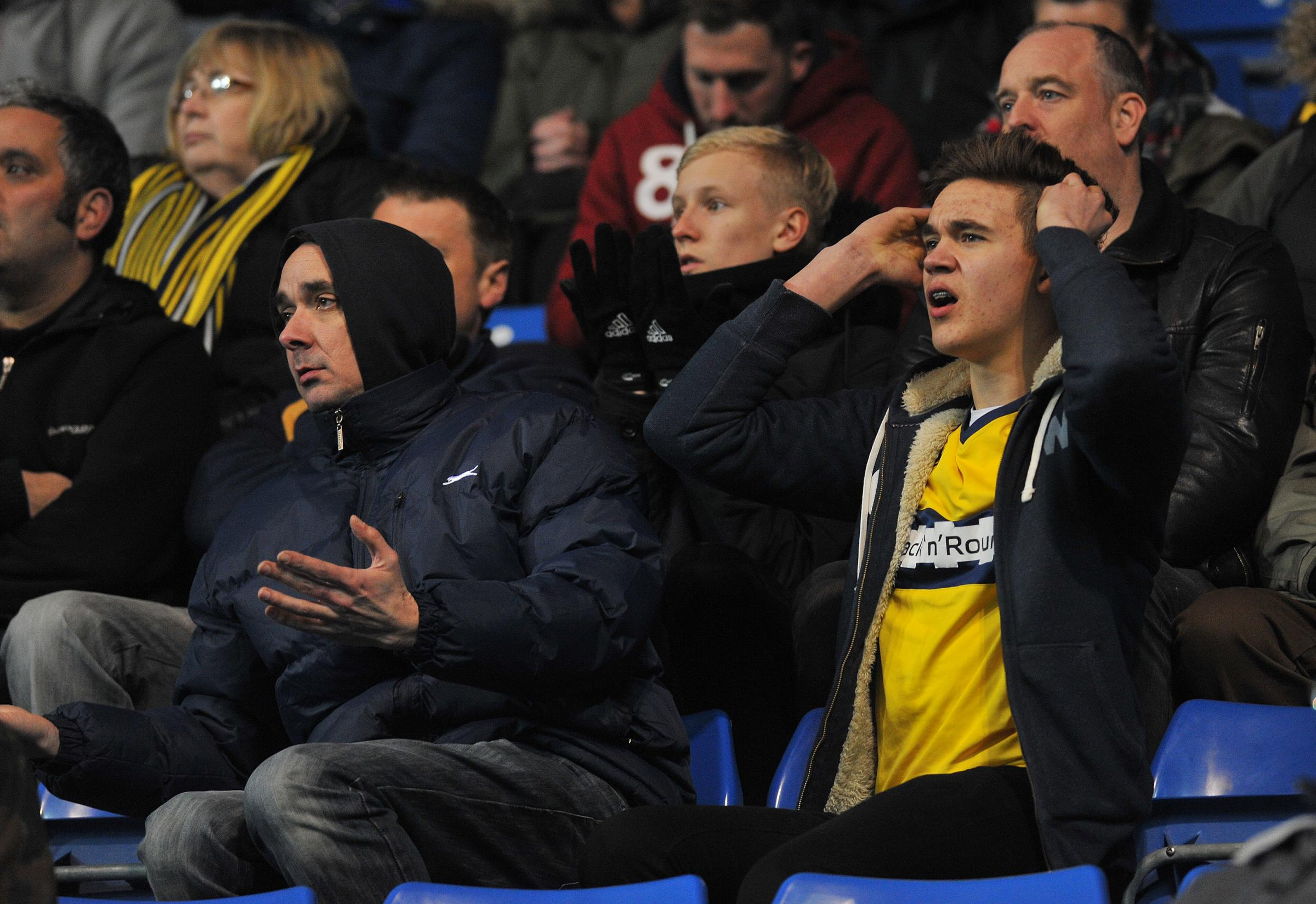 Oxford United supporters cannot take any more as their side lose 2-0 to Sky Bet League Two basement boys Hartlepool last night