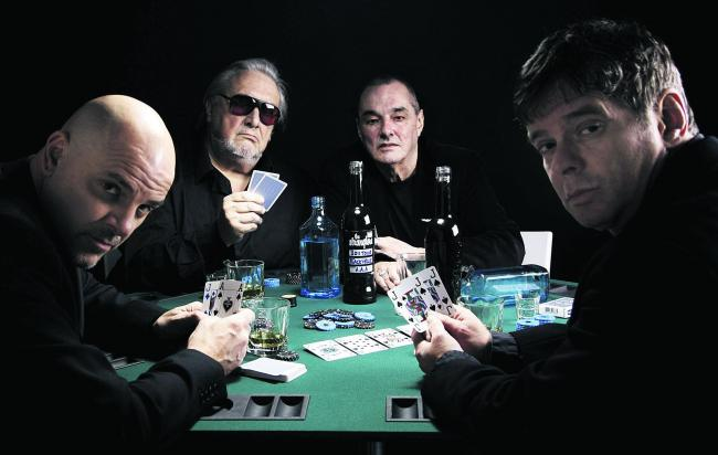 Playing their cards right: The Stranglers, with JJ Burnel, right