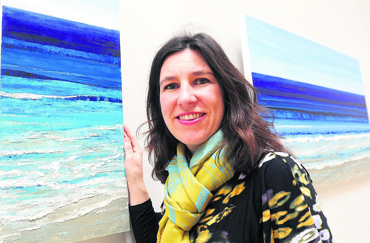 Janine Philips and her seascapes