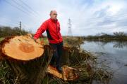 Fisherman John Beesley has complained that miles of trees were cut down