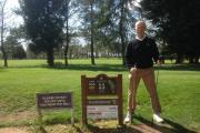Richard Squires at the scene of his amazing albatross at Cotswolds Golf Club