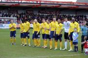 Lining up against Accrington Stanley (far right) for what turned out to be my final game for Oxford United, in April 2013