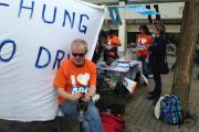 NHS campaigners hit Bonn Square to protest against privatisation