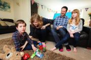 Sally Balfour-Allen with her husband Martin, son Samuel, eight, and daughter Gabrielle, nine. Picture: Jon Lewis