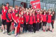 City of Oxford's successful squad of swimmers who finished a notable fourth in the National Arena League's B final