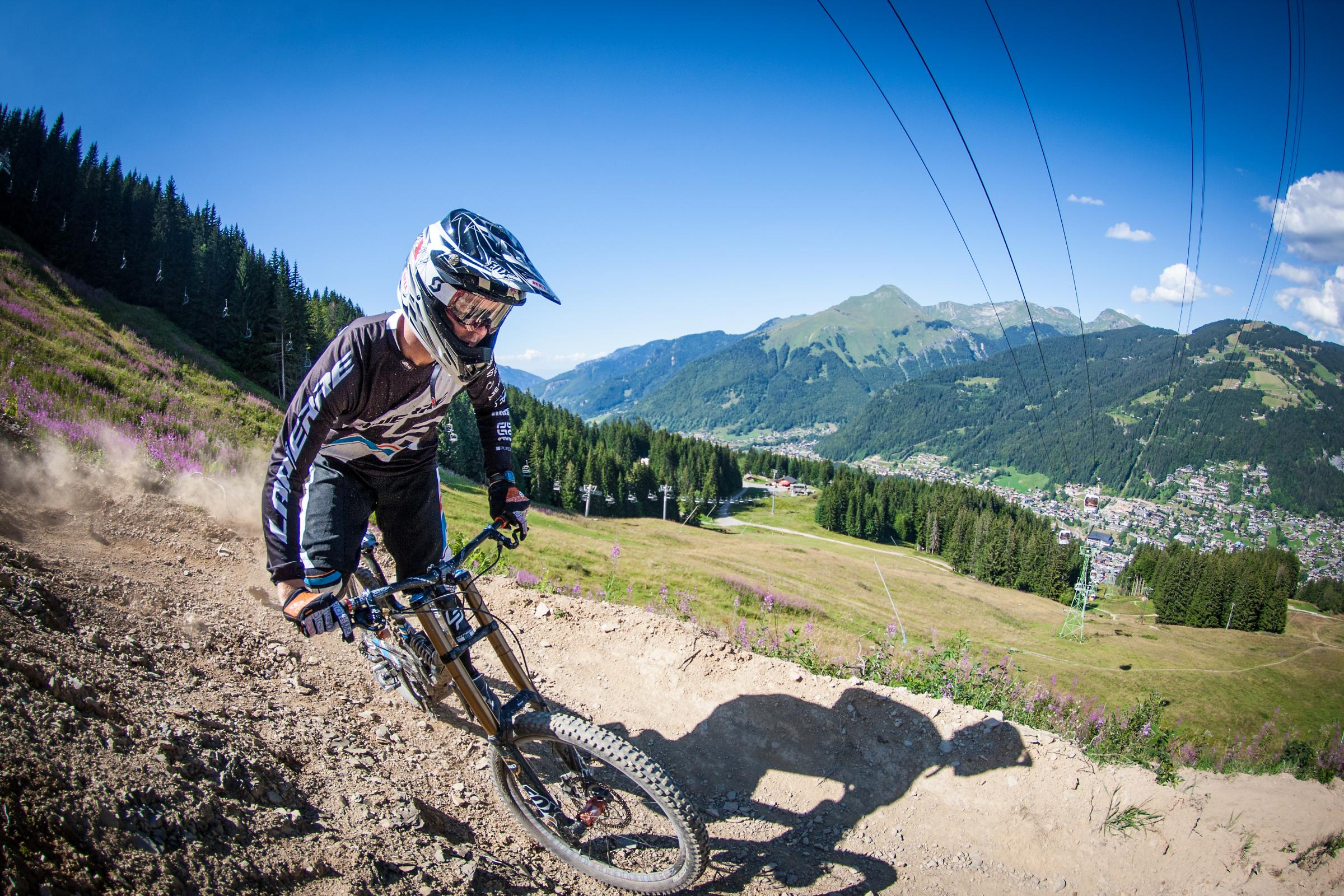 Hitting the heights at Morzine (Picture: Damian McArthur)