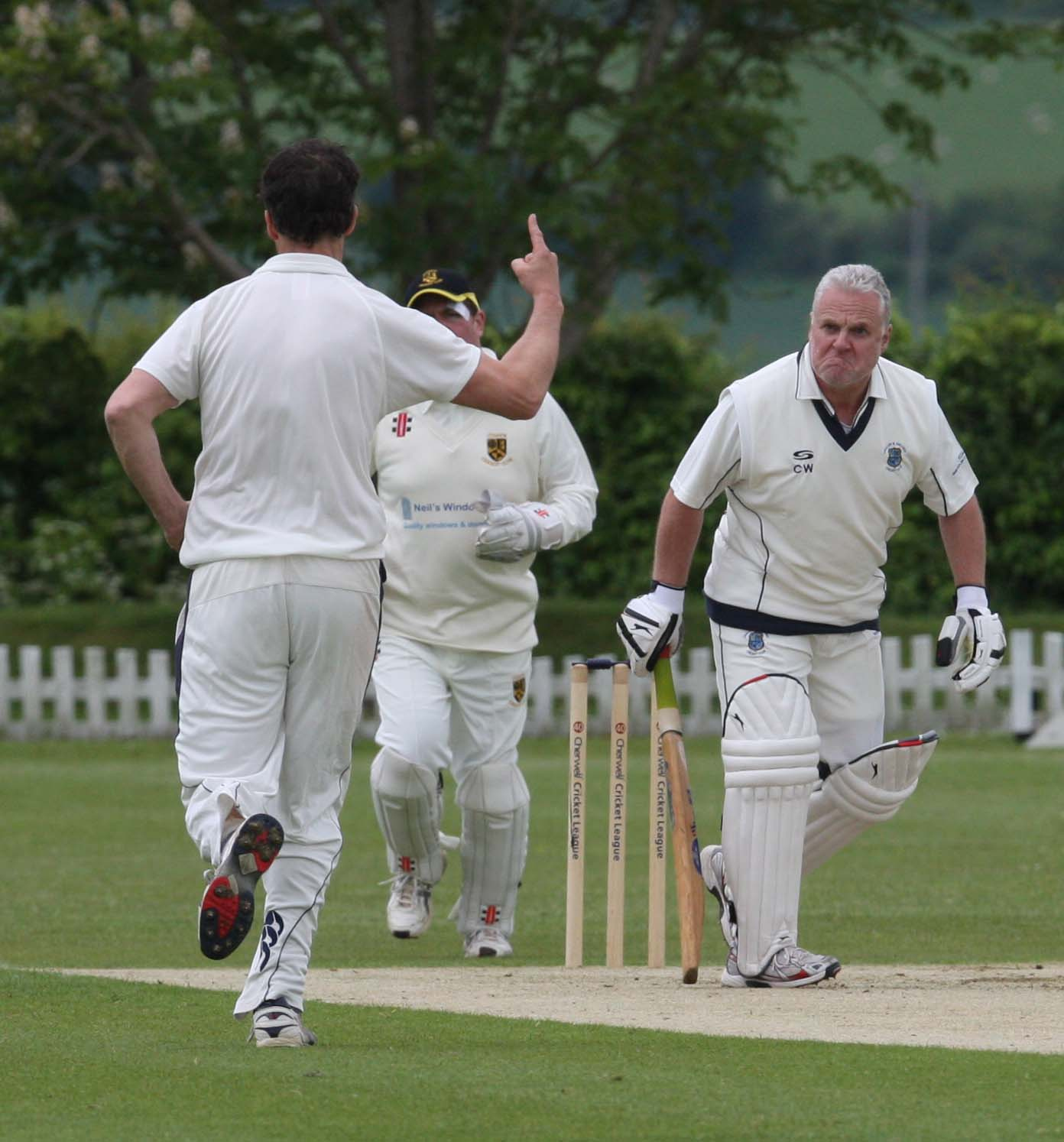 Challow & Childrey's Chris Warboys is dismissed during the seven-wicket defeat to Cumnor Picture: Steve Wheeler
