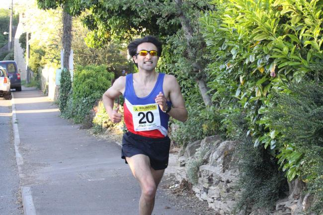 Oxford City AC's David Bruce grits his teeth on the way to claiming victory Picture: Barry Cornelius