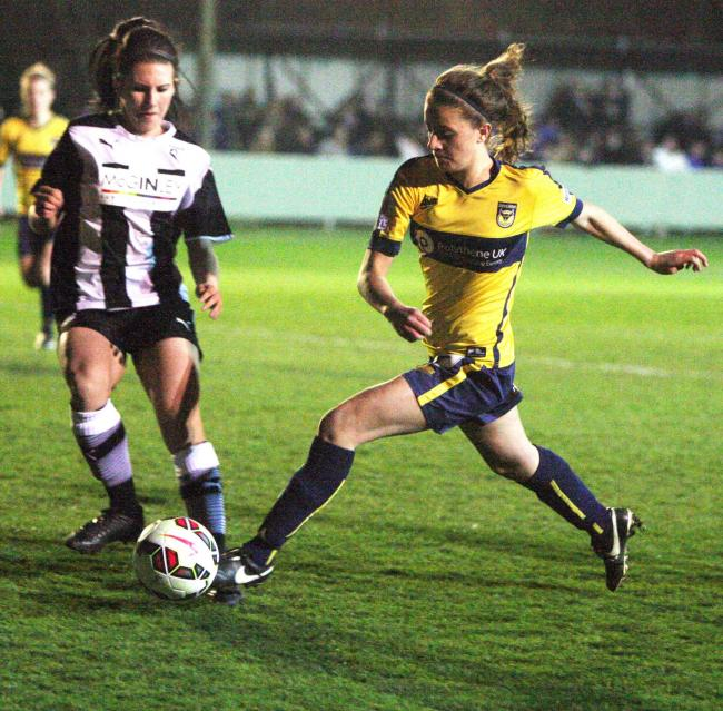 Laura Low scored a stoppage time winner for Oxford United against London Bees Picture: Steve Wheeler
