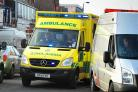 Motorcyclist hospitalised following van collision