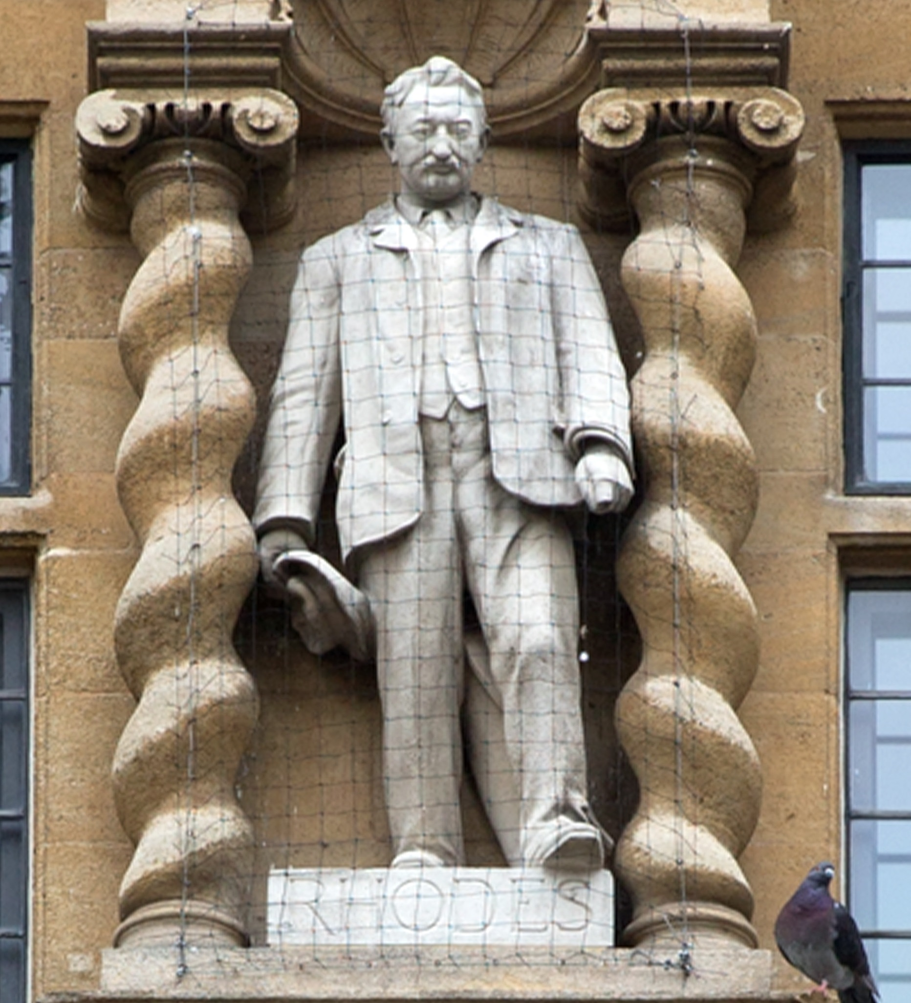 Controversial: The Cecil Rhodes statue at Oriel College in High Street, Oxford