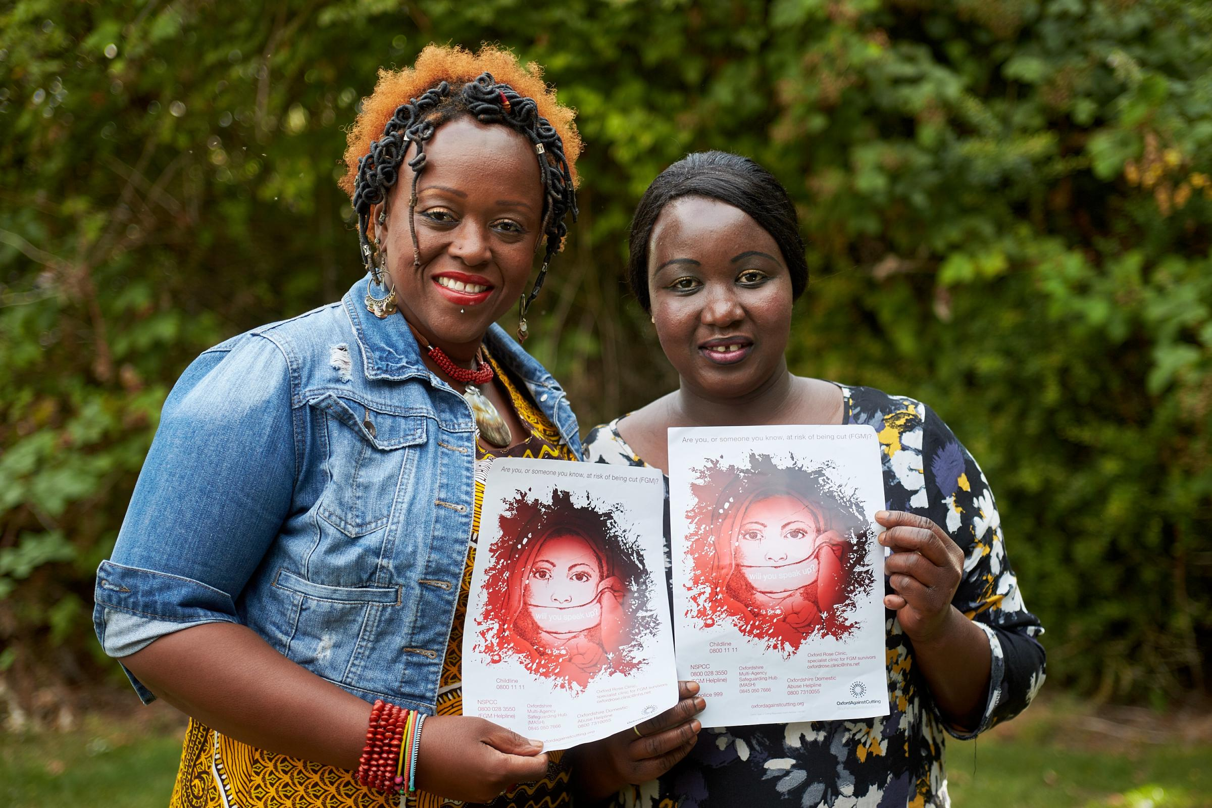 Campaign: Dianne Regisford, left, and Kaddy Touray from Oxford Against Cutting
