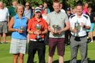 Bicester's club champions (from left) Lorna Godwin, Laura Watkins, Ellis Reid and Tim Horn