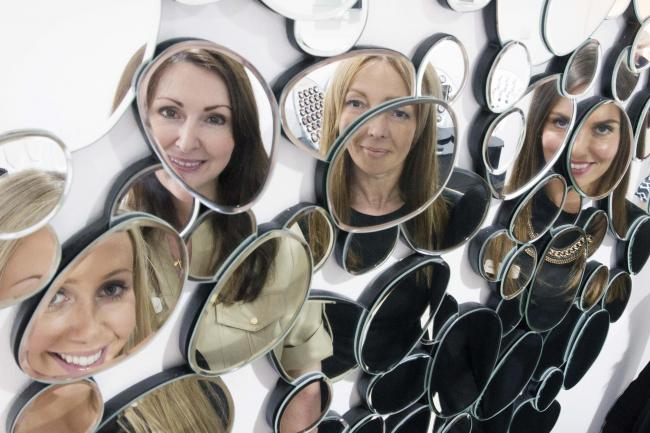 Mirror mirror: Left to right, therapist Harriet Franklin, aesthetic surgeon Dr Helen Hamilton, and therapists Sarah Pennie and Carla Stewart
