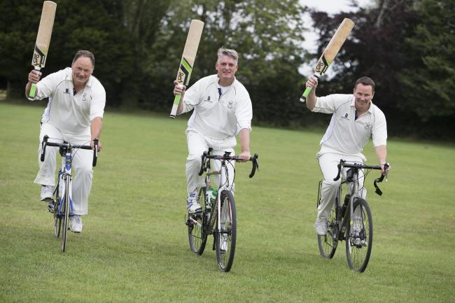 From left, Wytham Cricket Club members David Crutchley, Philip Blakeman and Matt Jarvis