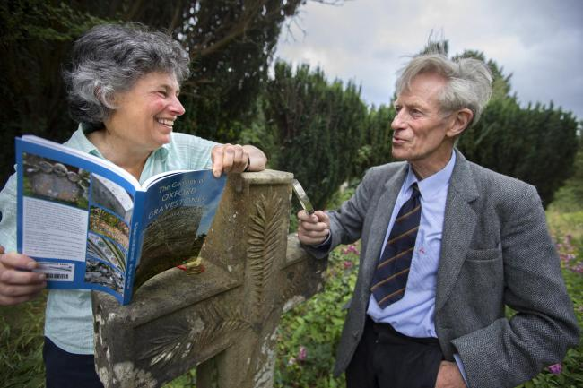 Research: Nina Morgan and Philip Powell who have produced a book about the geology and inhabitants of Oxford's cemeteries