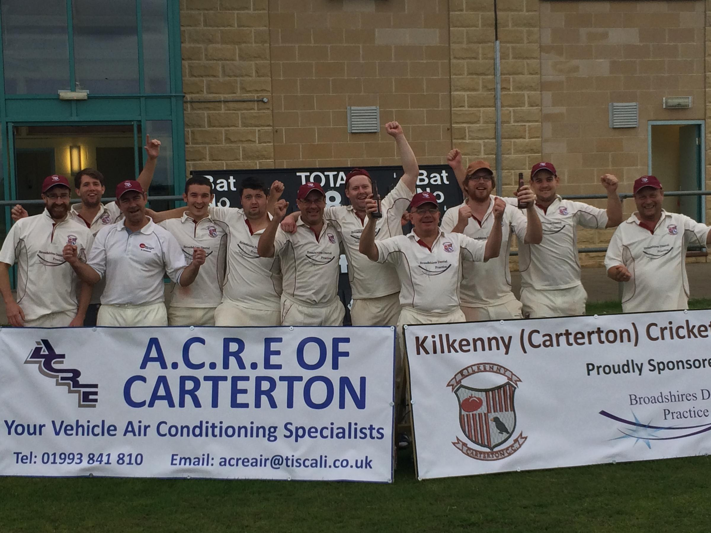 Kilkenny 2nd celebrate securing the OCA League Division 9 title with a seven-wicket victory over Marcham 2nd