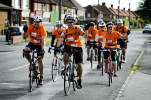 Charity bike ride kicks off day of fundraising events