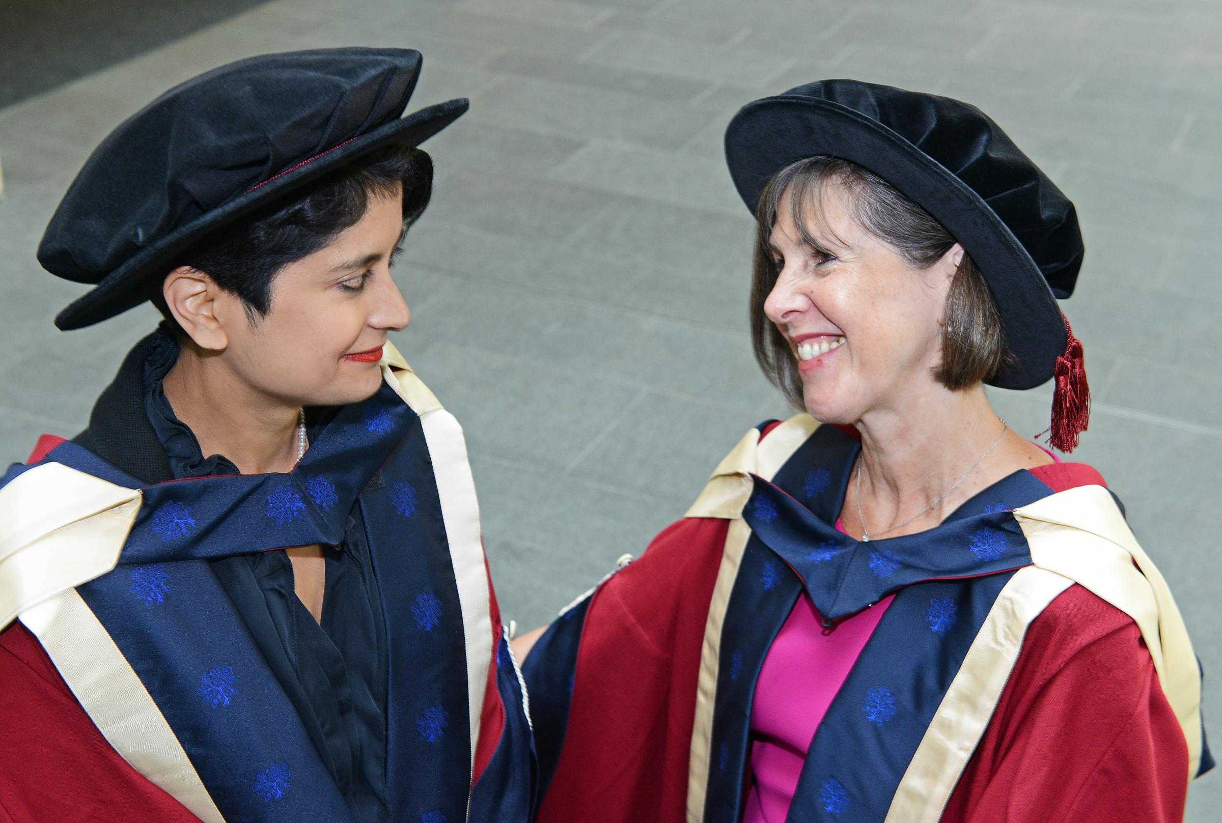 Awards: From left, Shami Chakrabarti and Prof Janet Beer at the ceremony